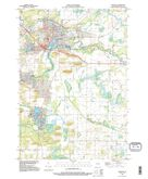 Download a high-resolution, GPS-compatible USGS topo map for Waupaca, WI (1995 edition)