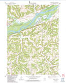 Download a high-resolution, GPS-compatible USGS topo map for Wauzeka East, WI (1983 edition)