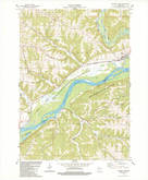 Download a high-resolution, GPS-compatible USGS topo map for Wauzeka West, WI (1983 edition)