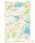 Download a high-resolution, GPS-compatible USGS topo map for Weyauwega, WI (1990 edition)