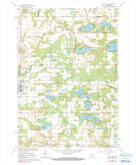 Download a high-resolution, GPS-compatible USGS topo map for Wild Rose, WI (1991 edition)