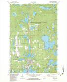 Download a high-resolution, GPS-compatible USGS topo map for Woodruff, WI (1983 edition)