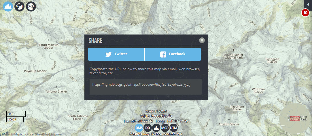 click on the icon in the map information window to pin your map pin descriptions are pre built with information about the map being pinned
