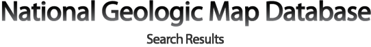 National Geologic Map Database Search Results List Page